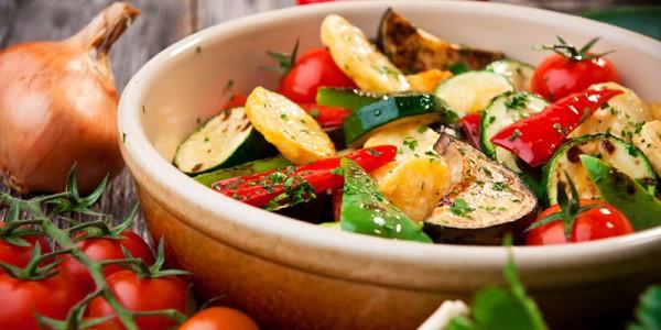 Ratatouille von frischen Gemüsen – vegan